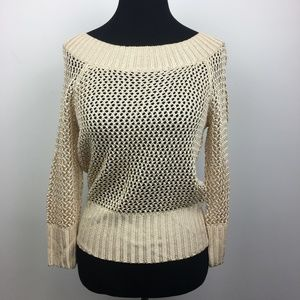 The Limited Beige Open Knit Sweater